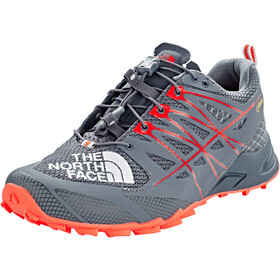 The North Face Ultra MT II GTX Zapatillas running Mujer, grisaille grey/fiery coral